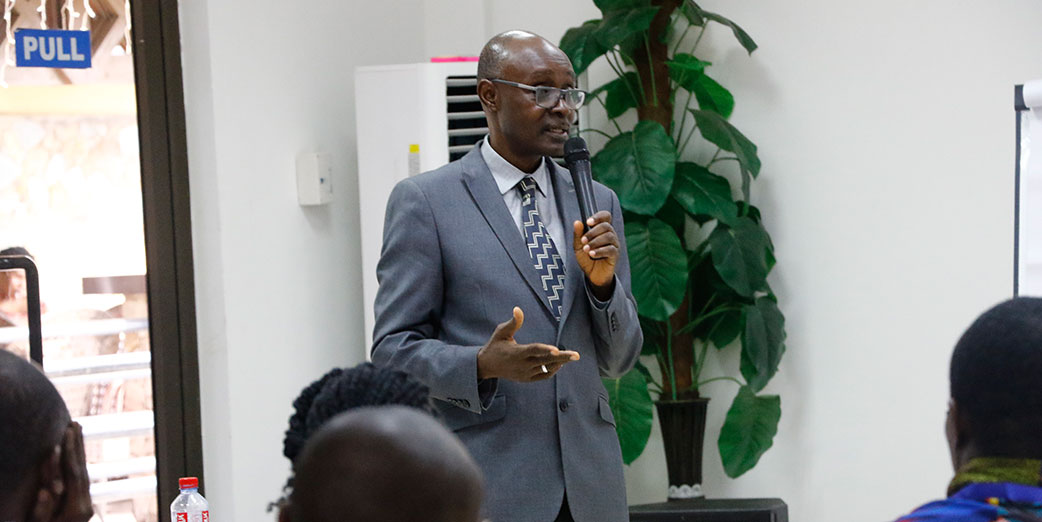 Dr. Jacob Mahama, Regional Director of Health Services – Western Region giving his remarks at the FETP-Frontline held at the Grand Favor hotel. Takoradi, Western Region, March 2018