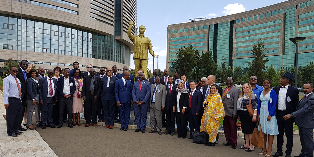 Participants at the African Health Leaders on NPHIs in Addis Ababa, Ethiopia