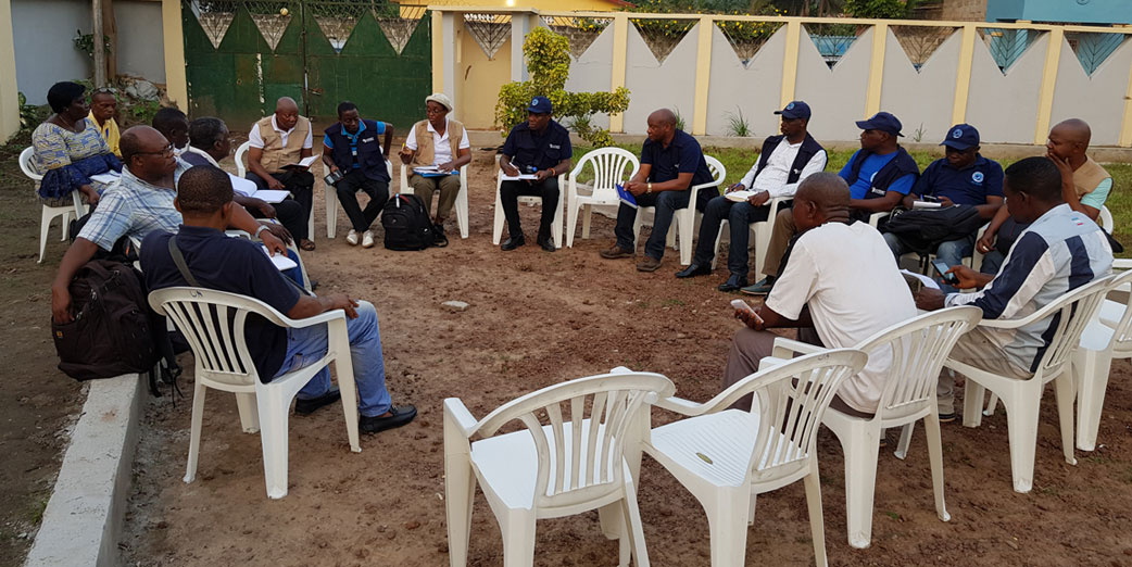 Surveillance committee meeting in Mbandaka City