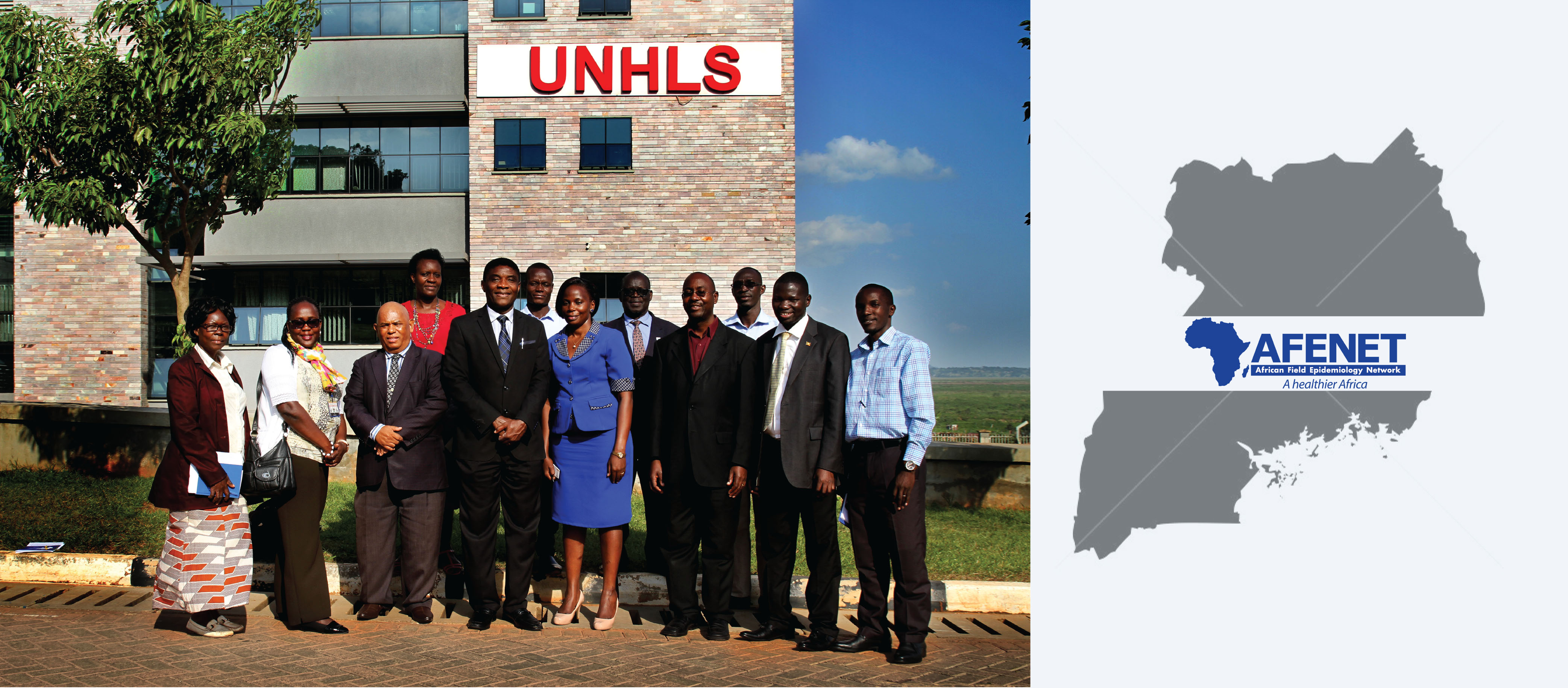 AFENET team led by the Executive Director – Dr Chima Ohuabunwo during their courtesy visit to the Uganda National Health Laboratory Services (UNHLS) in Kampala, Uganda