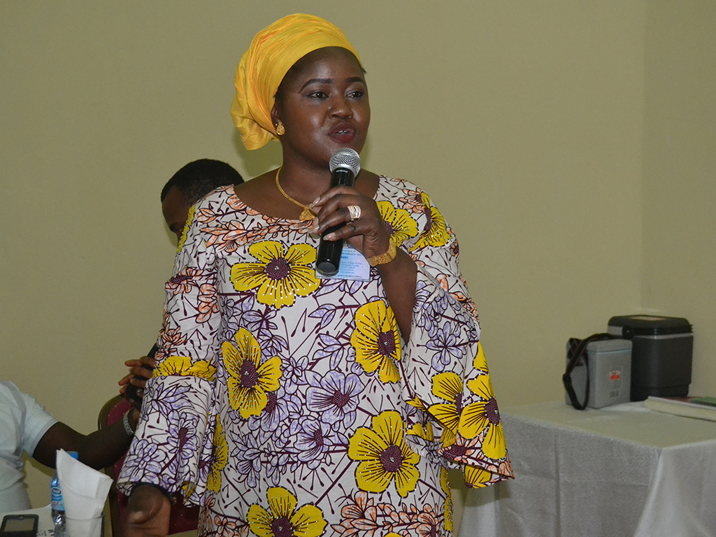 Dr Ndadilnasiya Endie Waziri – addressing participants at the NSTOP training on Routine Immunization Demand Creation in Bauchi State