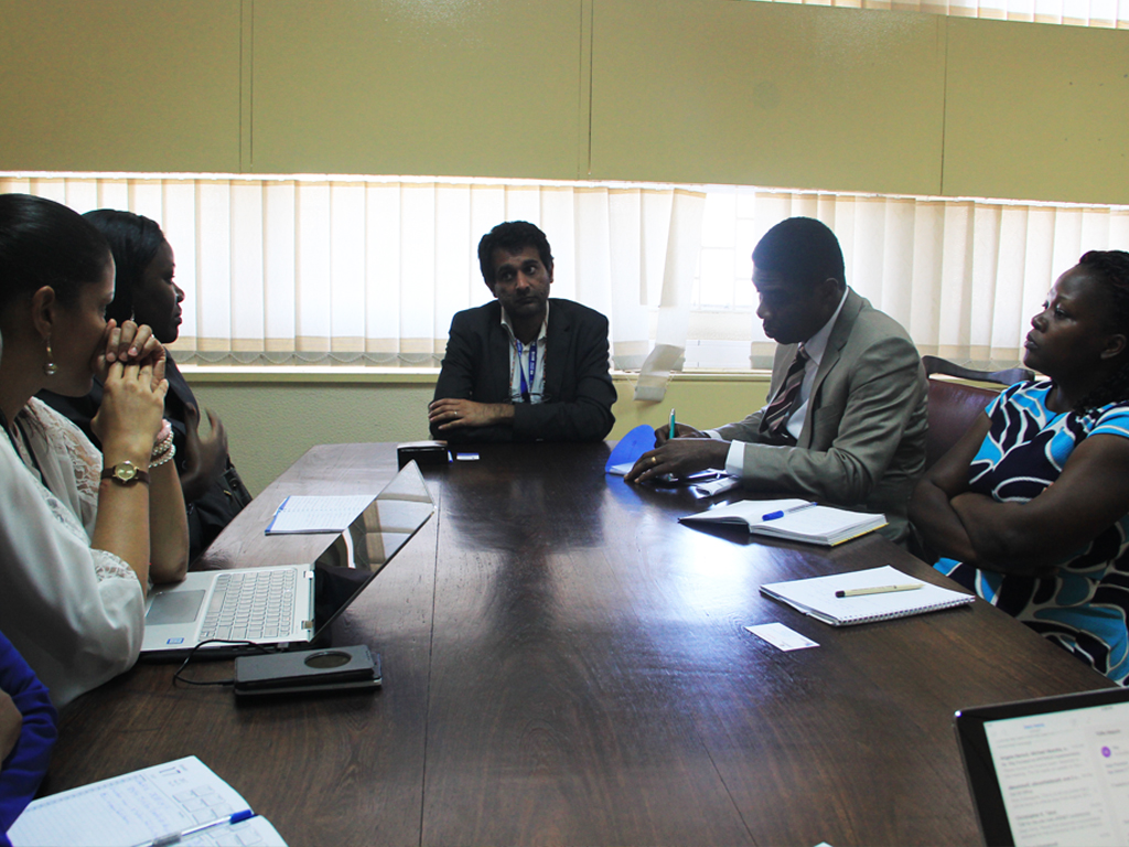 AFENET team led by the Executive Director, Dr. Chima Ohuabunwo meet the Director General, INS - Dr Ilesh VJani