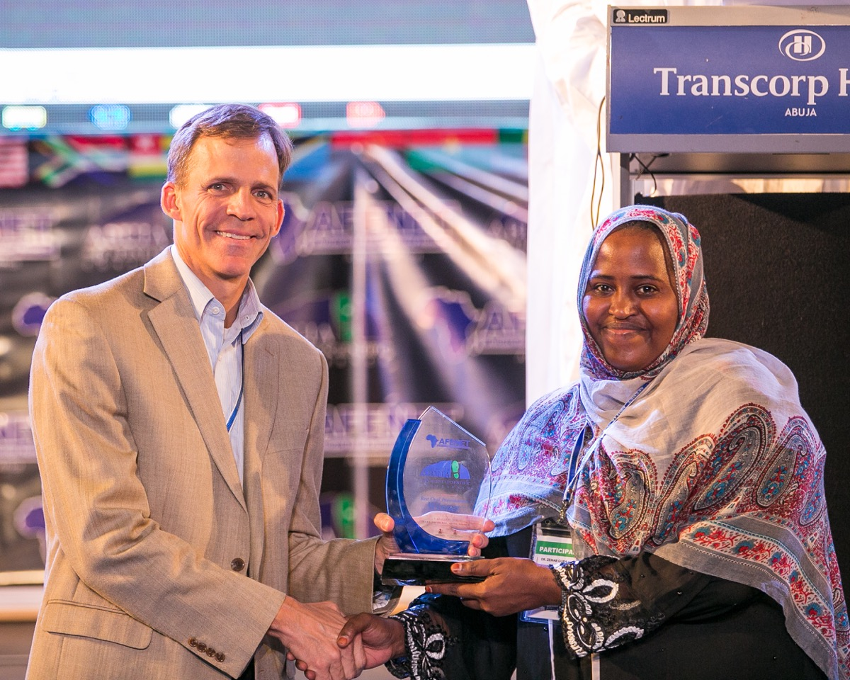 Dr. Zeinab Gura- Program Director -Kenya FELTP receiving