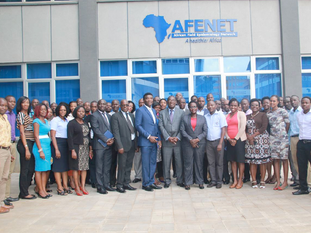 AFENET Board Chairman (Center) and secretariat staff welcome Dr. Chima John Ohuabunwo – Executive Director AFENET (Photo courtesy of Racheal Chelimo)